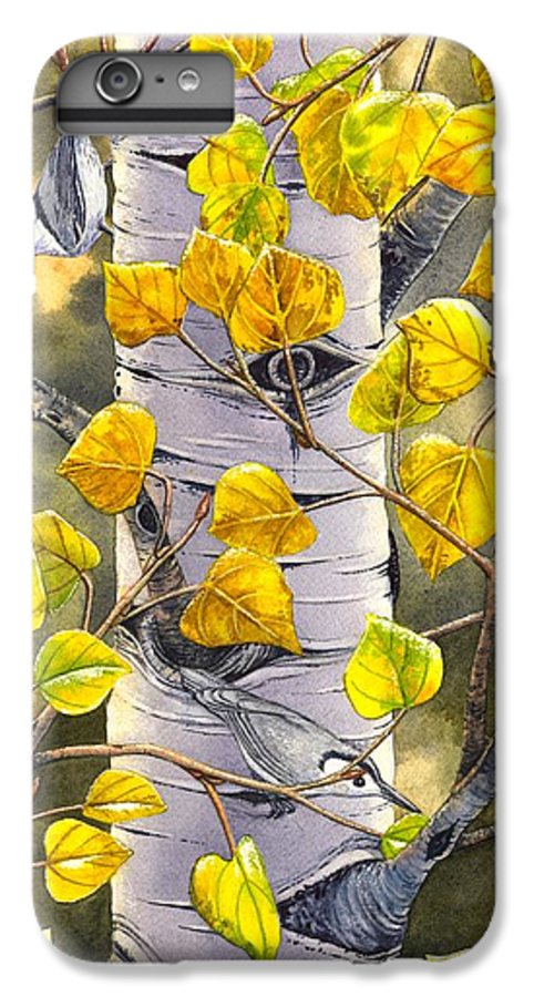 Nuthatch IPhone 6 Plus Case featuring the painting Nuthatches by Catherine G McElroy