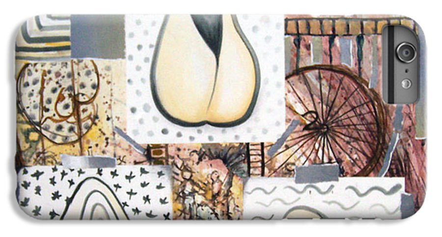 Abstract IPhone 6 Plus Case featuring the painting Nuts by Valerie Meotti