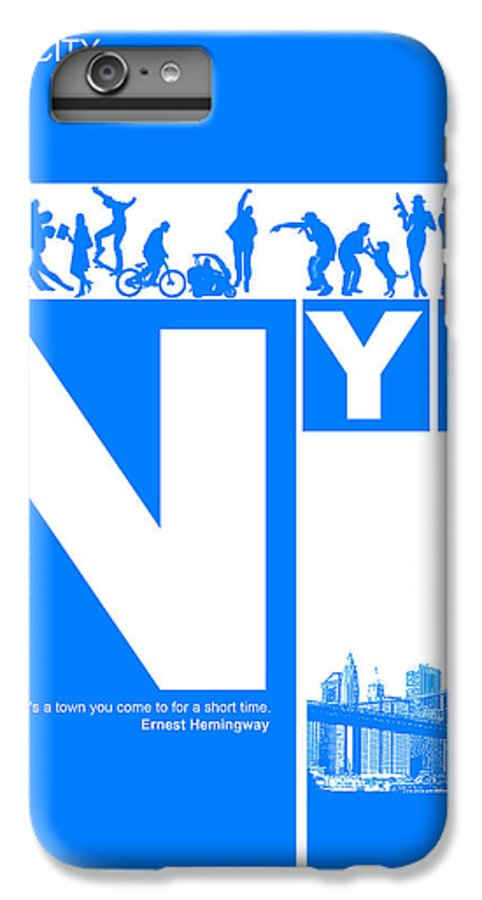 New York IPhone 6 Plus Case featuring the digital art Nyc Find Yourself In The City by Naxart Studio