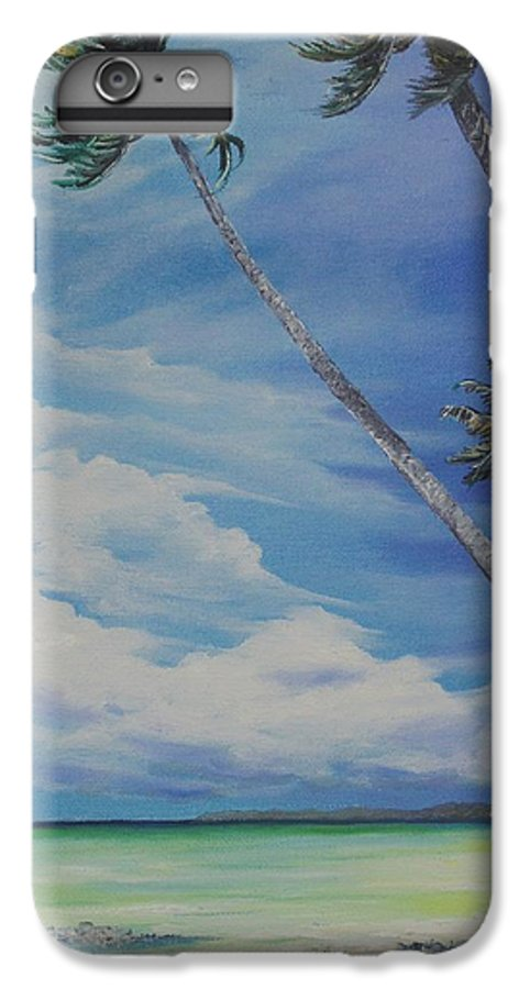 Trinidad And Tobago Seascape IPhone 6 Plus Case featuring the painting Nylon Pool Tobago. by Karin Dawn Kelshall- Best