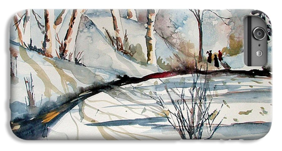 Winter IPhone 6 Plus Case featuring the painting O Holy Night by Mindy Newman