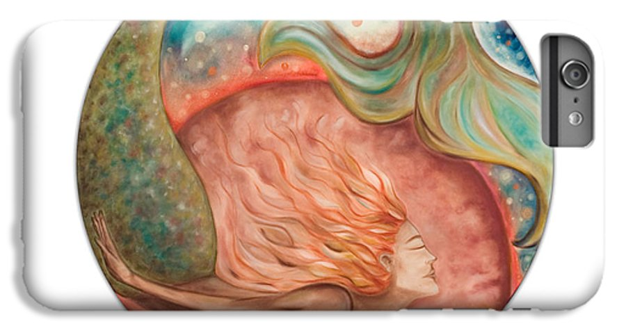 Ocean Spirit Inspiration Art Soul Spiritual IPhone 6 Plus Case featuring the painting Ocean Spirit by Moira Gil
