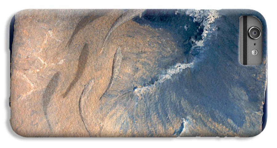 Seascape IPhone 6 Plus Case featuring the painting Ocean by Steve Karol