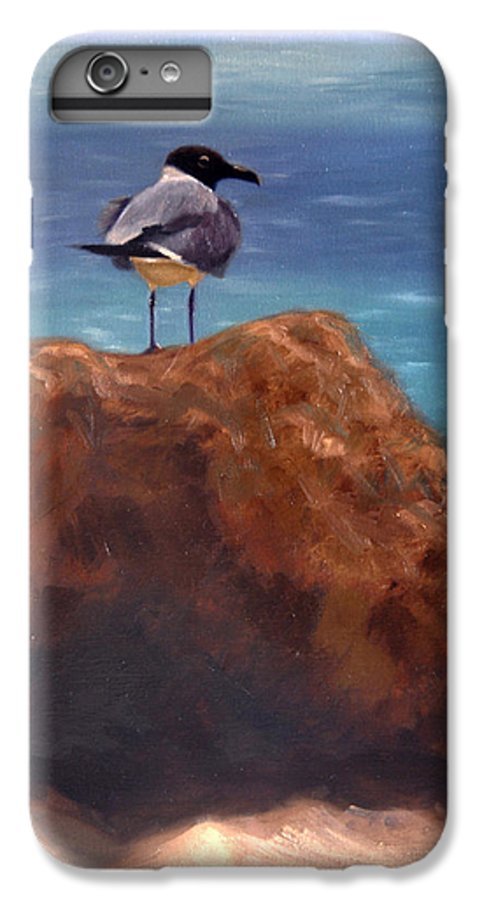 Oil IPhone 6 Plus Case featuring the painting Ocean View by Greg Neal