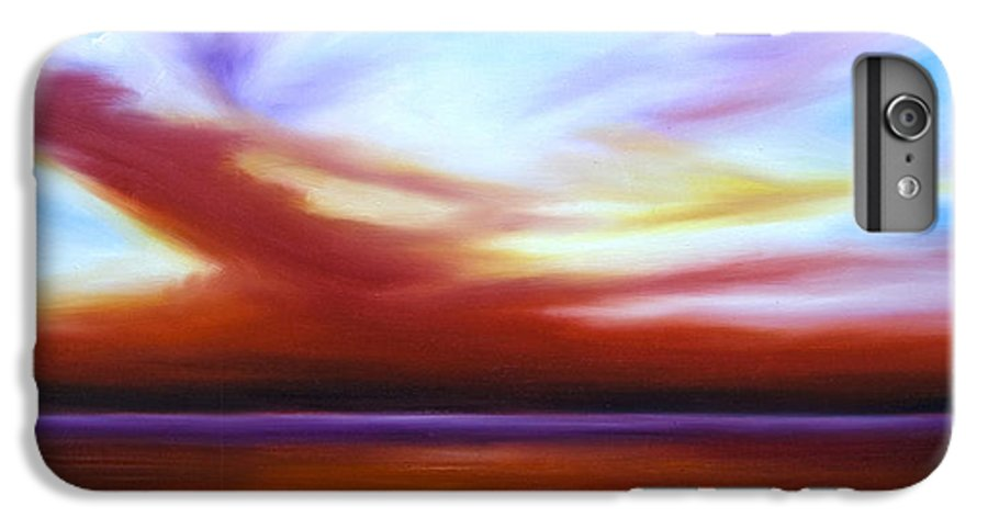 Skyscape IPhone 6 Plus Case featuring the painting October Sky IIi by James Christopher Hill