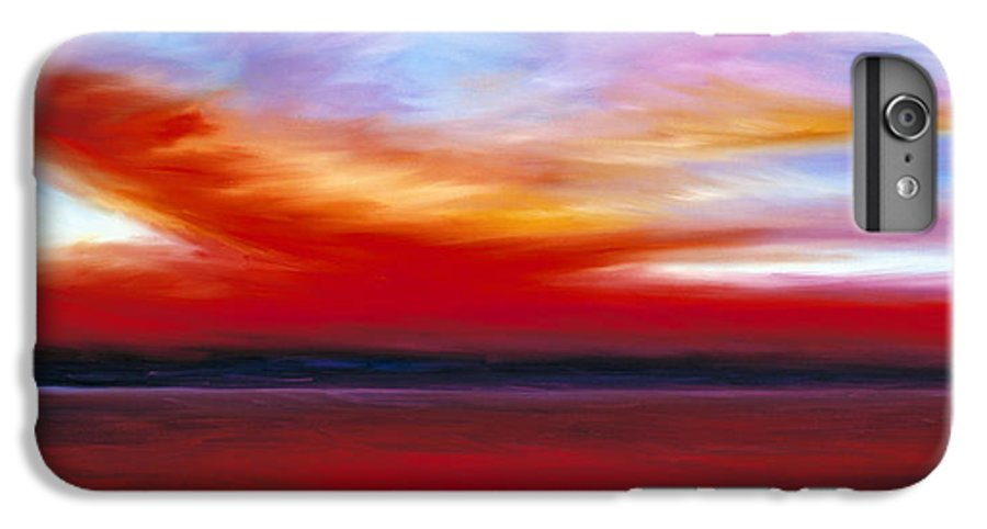 Clouds IPhone 6 Plus Case featuring the painting October Sky by James Christopher Hill