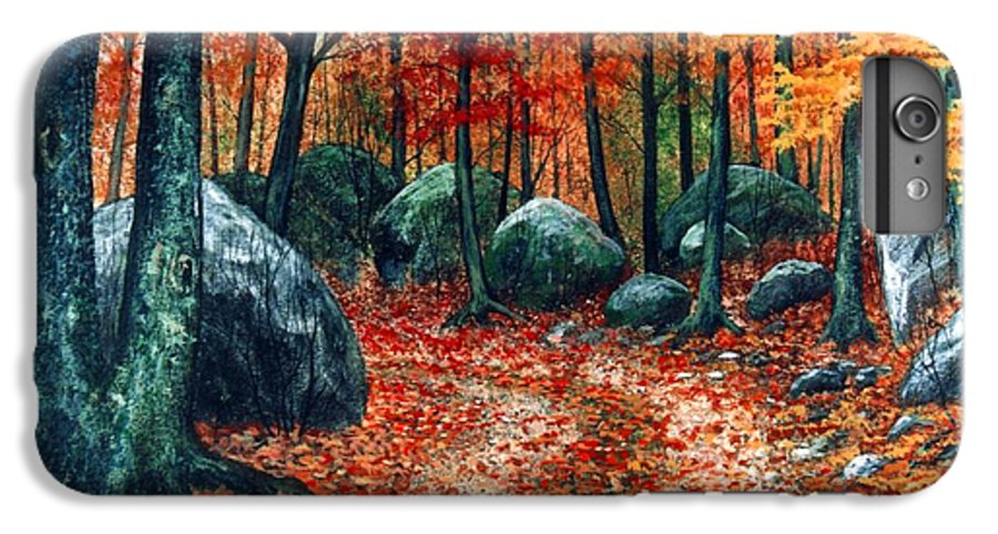 Landscape IPhone 6 Plus Case featuring the painting October Woodland by Frank Wilson