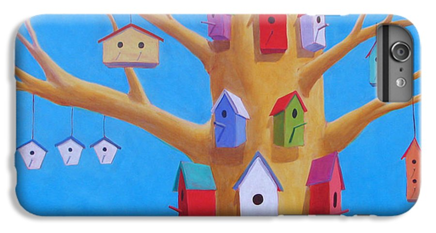 Bird House IPhone 6 Plus Case featuring the painting Off Season 4 by Scott Gordon