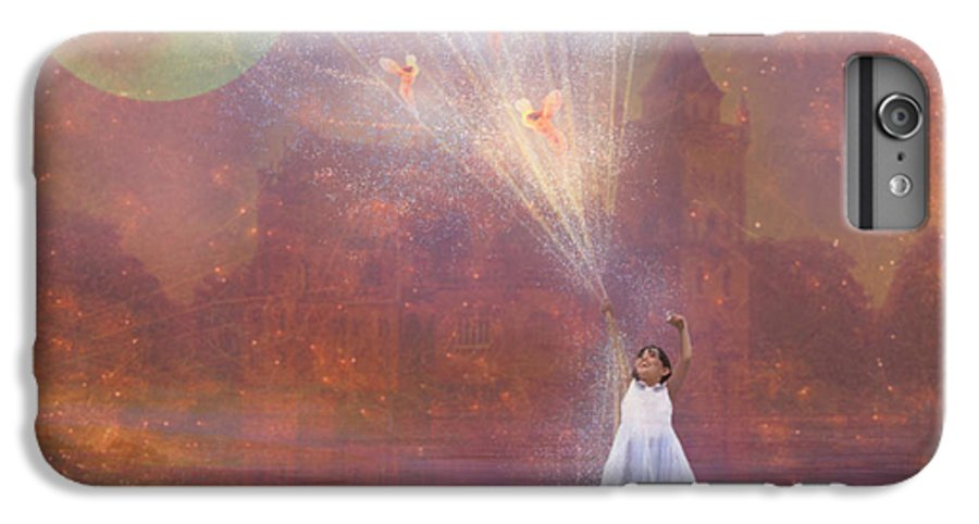 Fairyland IPhone 6 Plus Case featuring the painting Off To Fairy Land - By Way Of Fairyloons by Carrie Jackson