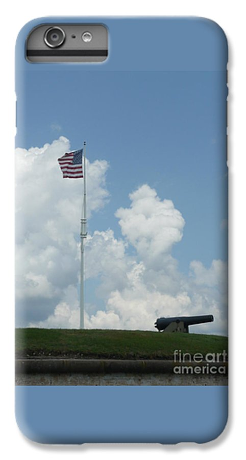 Flag IPhone 6 Plus Case featuring the photograph Oh Say Can You See by Barb Montanye Meseroll