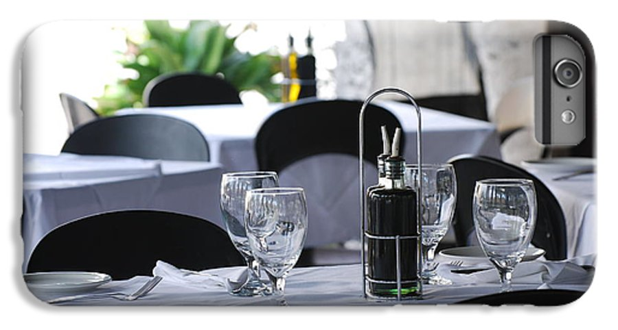 Tables IPhone 6 Plus Case featuring the photograph Oils And Glass At Dinner by Rob Hans