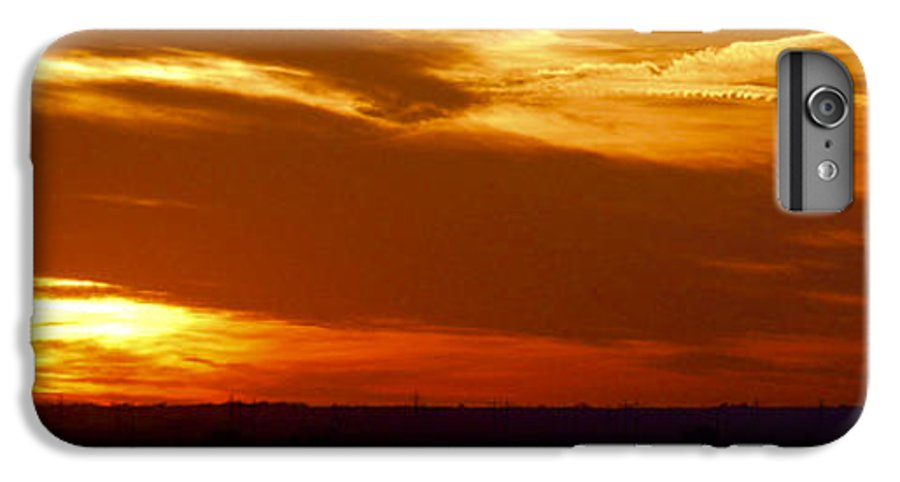 Landscape IPhone 6 Plus Case featuring the photograph Oklahoma Sunset by Larry Keahey