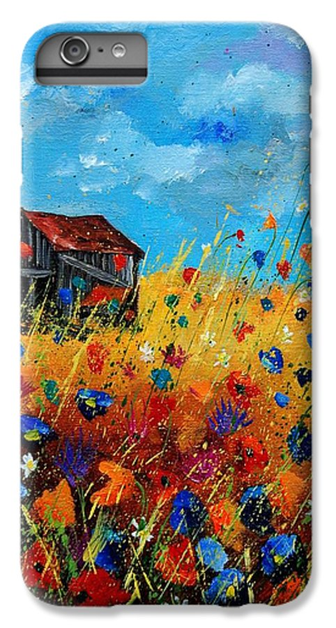 Poppies IPhone 6 Plus Case featuring the painting Old Barn by Pol Ledent