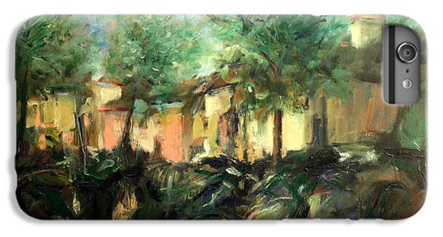 Old Houses IPhone 6 Plus Case featuring the painting Old Houses by Mario Zampedroni