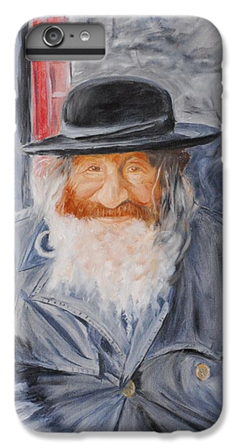Jerusalem IPhone 6 Plus Case featuring the painting Old Man Of Jerusalem by Quwatha Valentine