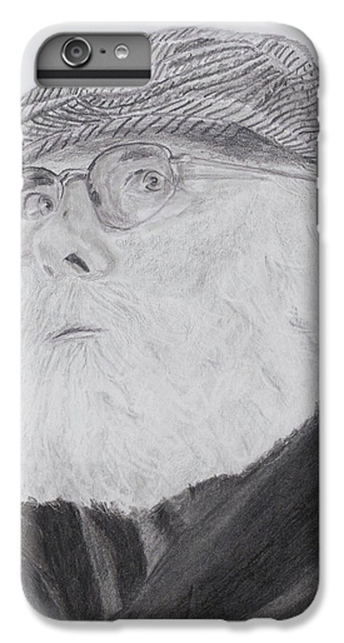 Portrait IPhone 6 Plus Case featuring the drawing Old Man With Beard by Quwatha Valentine
