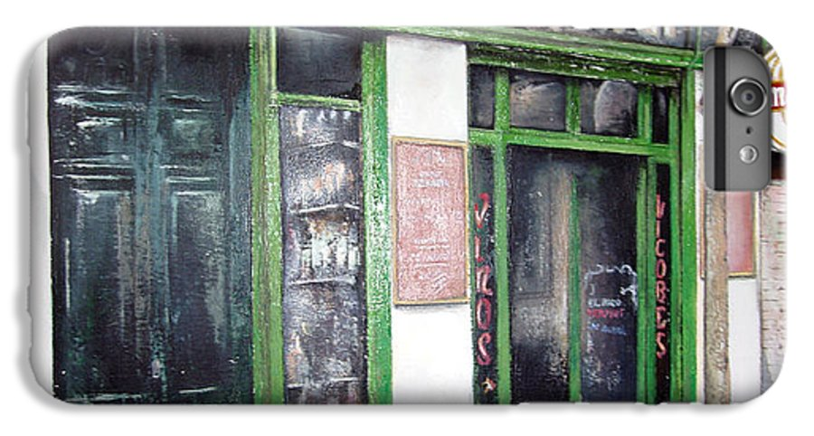 Bodegas IPhone 6 Plus Case featuring the painting Old Tavern-madrid by Tomas Castano