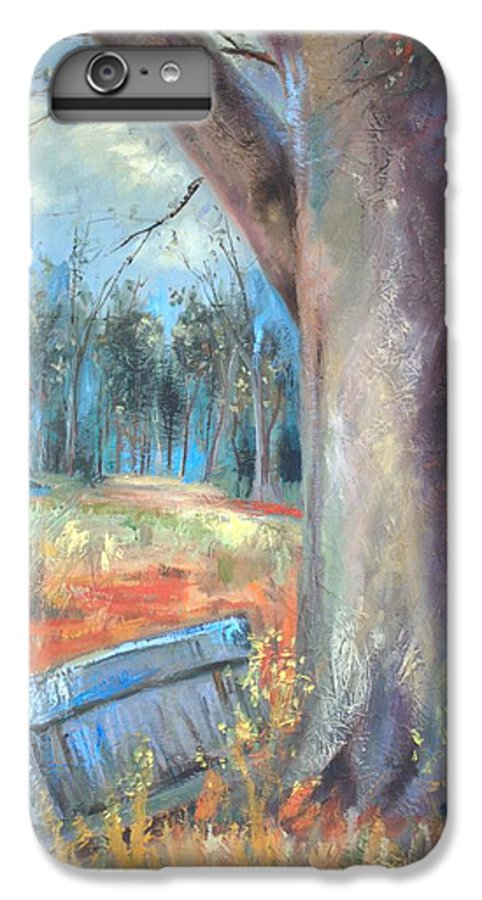 Country Scenes IPhone 6 Plus Case featuring the painting Old Times by Ginger Concepcion