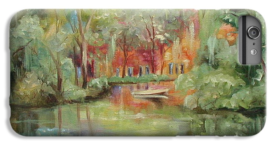 Bayou IPhone 6 Plus Case featuring the painting On A Bayou by Ginger Concepcion