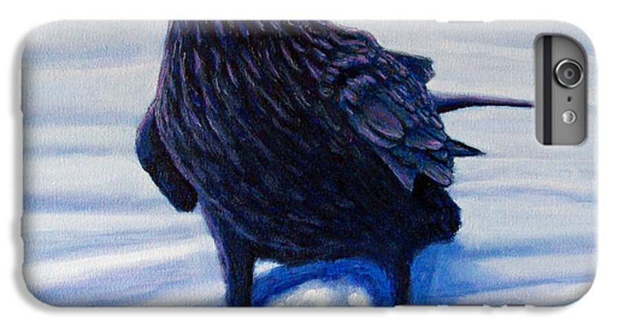 Raven IPhone 6 Plus Case featuring the painting On Canyon Road by Brian Commerford