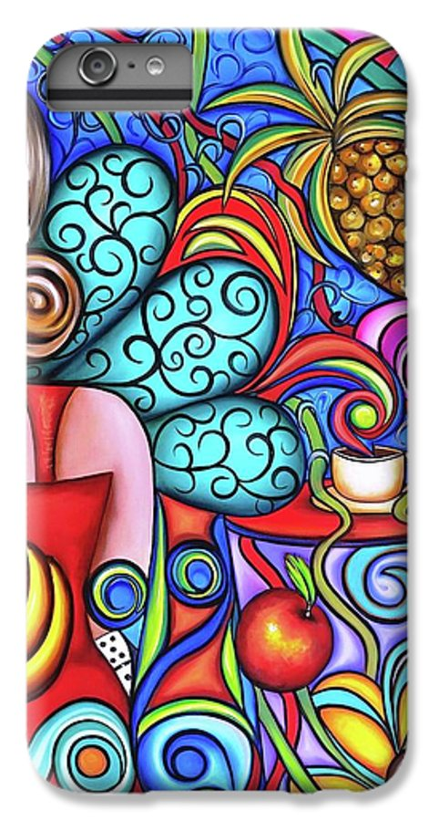 Cuba IPhone 6 Plus Case featuring the painting On My Mind by Annie Maxwell