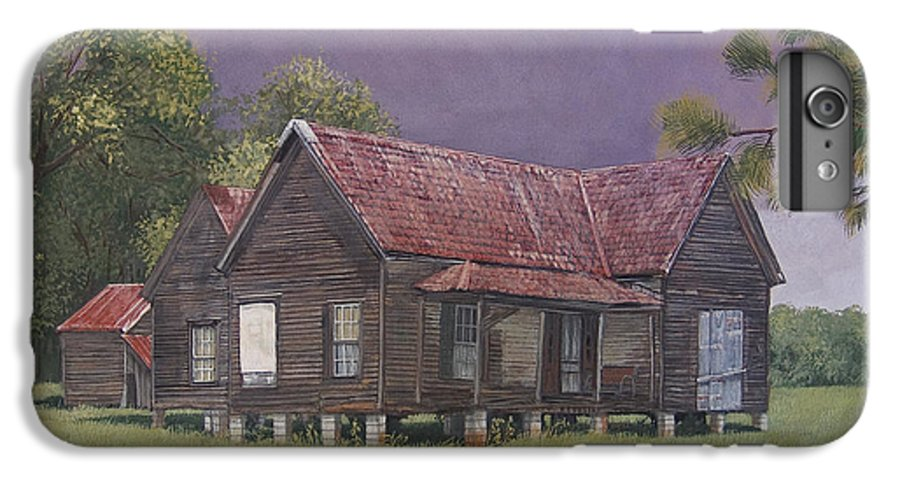 Landscape IPhone 6 Plus Case featuring the painting On The Blocks by Peter Muzyka
