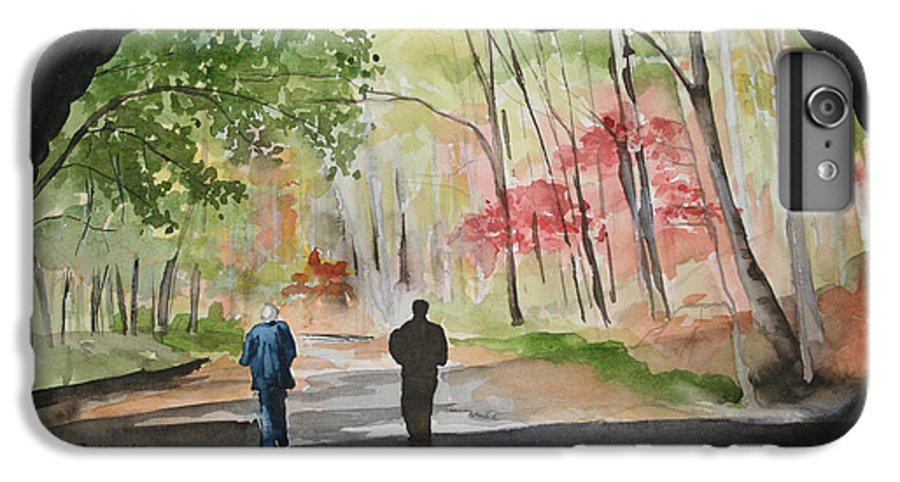 Road IPhone 6 Plus Case featuring the painting On The Road To Nowhere by Jean Blackmer