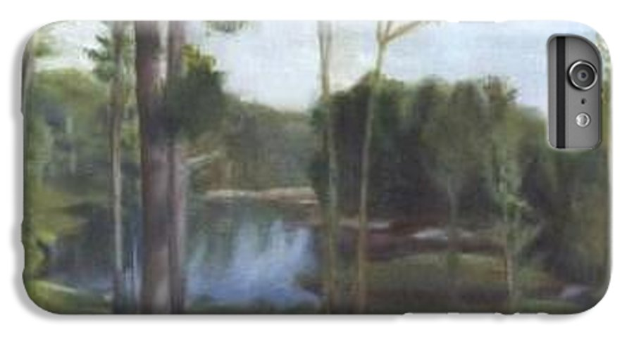 Landscape IPhone 6 Plus Case featuring the painting Once by Sheila Mashaw