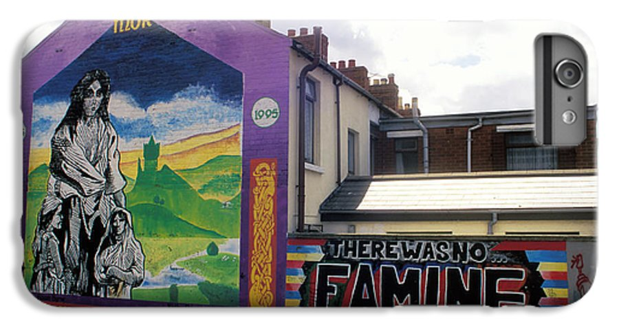 Art; Painting; Mural; Murals; Famine; Death; Pain; Hunger; Starvation; House; Residence; Expression; IPhone 6 Plus Case featuring the photograph Once Upon A Famine by Carl Purcell