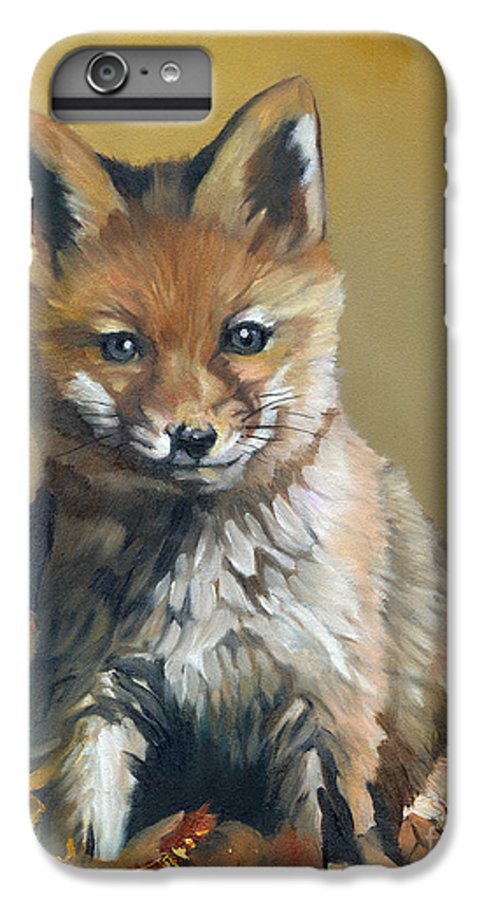 Fox IPhone 6 Plus Case featuring the painting Once Upon A Time by J W Baker