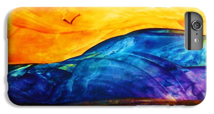Landscape IPhone 6 Plus Case featuring the painting One Fine Day by Melinda Etzold