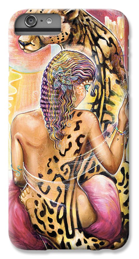 Animals IPhone 6 Plus Case featuring the painting Oneness by Blaze Warrender