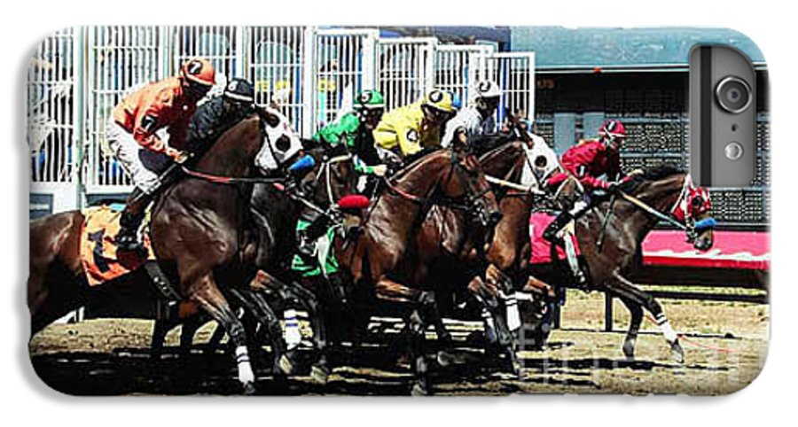 Horse IPhone 6 Plus Case featuring the photograph Only A Mile To Go by Kathy McClure