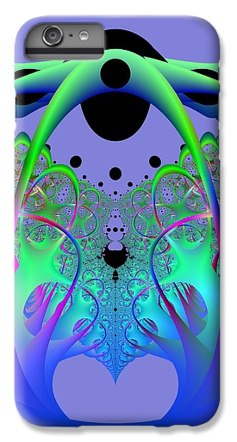 Fractal IPhone 6 Plus Case featuring the digital art Oodle World by Frederic Durville