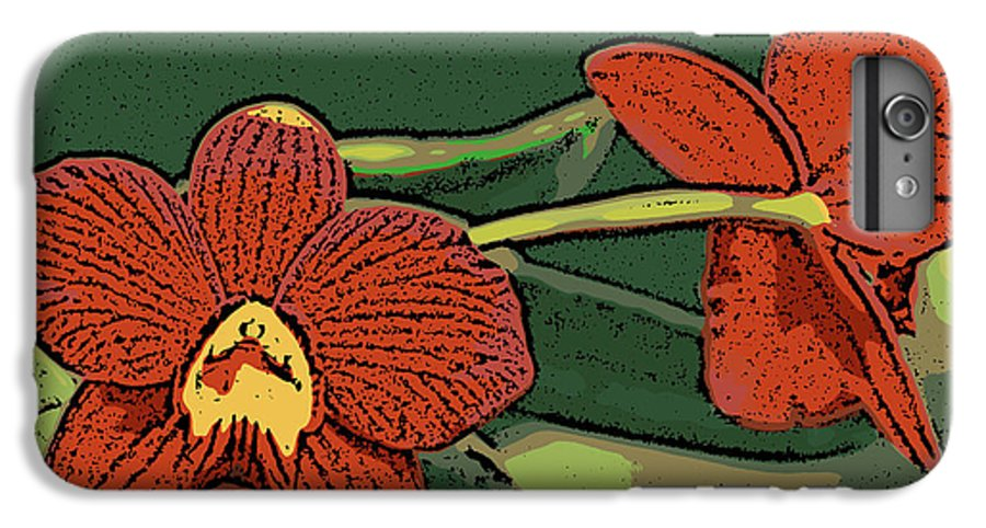Orchid IPhone 6 Plus Case featuring the photograph Orange Orchids by Ann Tracy
