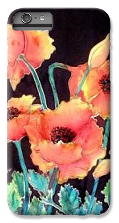 Poppies IPhone 6 Plus Case featuring the painting Orange Poppies by Francine Dufour Jones