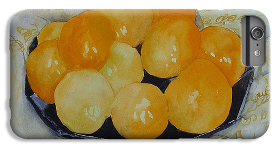 Still Life Watercolor Original Leilaatkinson Oranges IPhone 6 Plus Case featuring the painting Oranges by Leila Atkinson