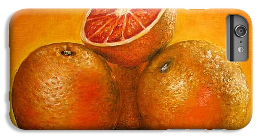 Oranges IPhone 6 Plus Case featuring the painting Oranges Original Oil Painting by Natalja Picugina