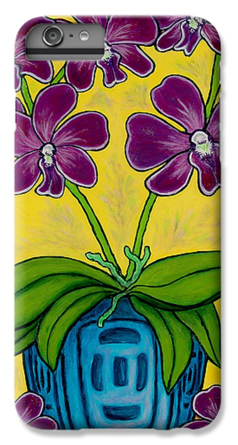 Orchids IPhone 6 Plus Case featuring the painting Orchid Delight by Lisa Lorenz