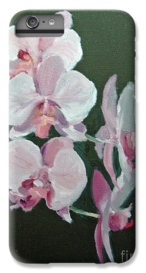 Floral IPhone 6 Plus Case featuring the painting Orchids For Didi by Glenn Secrest