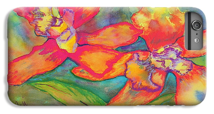 Flowers IPhone 6 Plus Case featuring the painting Orchids In Paradise by Cori Solomon