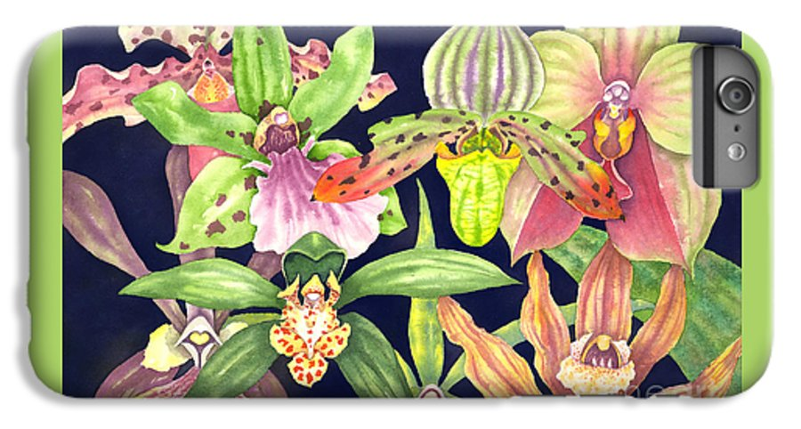 Orchids IPhone 6 Plus Case featuring the painting Orchids by Lucy Arnold