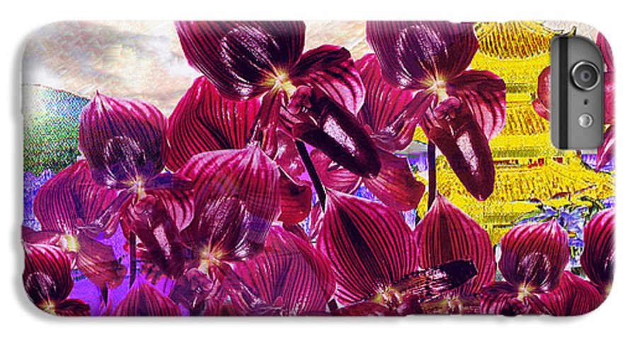 Far East IPhone 6 Plus Case featuring the digital art Oriental Orchid Garden by Seth Weaver