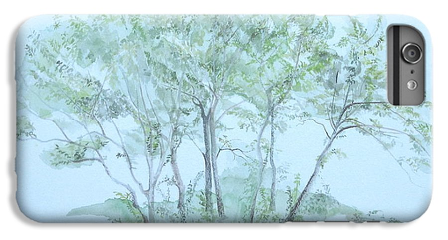 Trees IPhone 6 Plus Case featuring the painting Outer Banks by Leah Tomaino