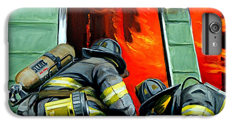 Firefighting IPhone 6 Plus Case featuring the painting Outside Roof by Paul Walsh