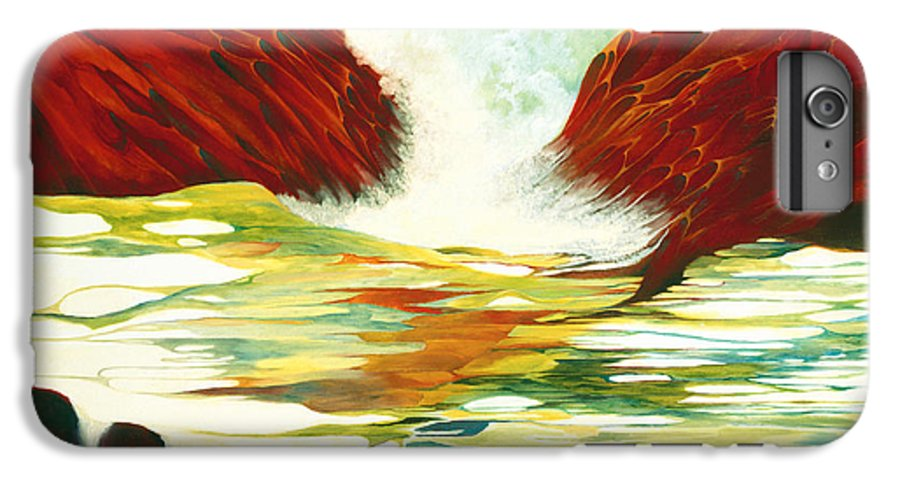Oil IPhone 6 Plus Case featuring the painting Overflowing by Peggy Guichu