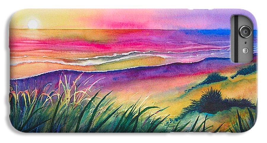 Pacific IPhone 6 Plus Case featuring the painting Pacific Evening by Karen Stark