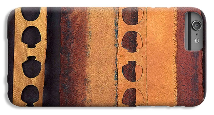 Pageformat IPhone 6 Plus Case featuring the mixed media Page Format No 3 Tansitional Series  by Kerryn Madsen-Pietsch