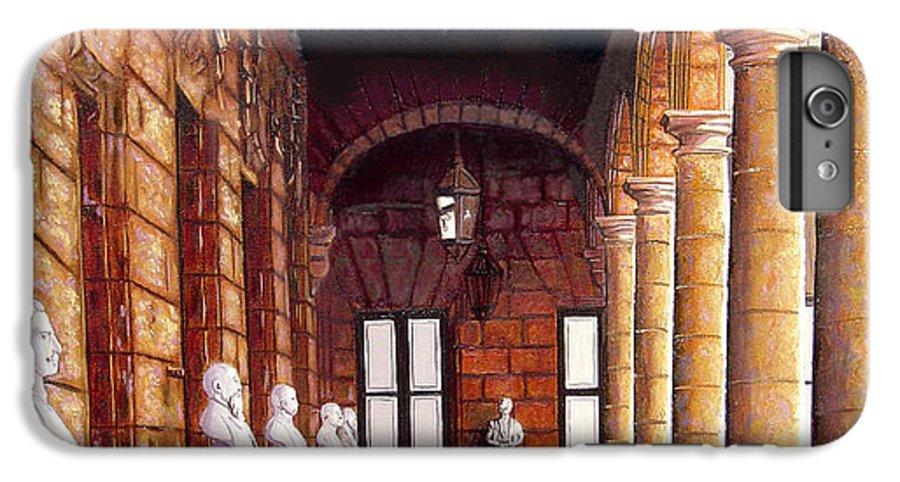 Cuban Art IPhone 6 Plus Case featuring the painting Palacio by Jose Manuel Abraham