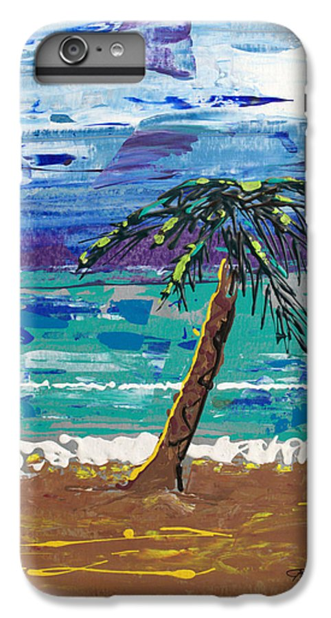 Palm Tree IPhone 6 Plus Case featuring the painting Palm Beach by J R Seymour